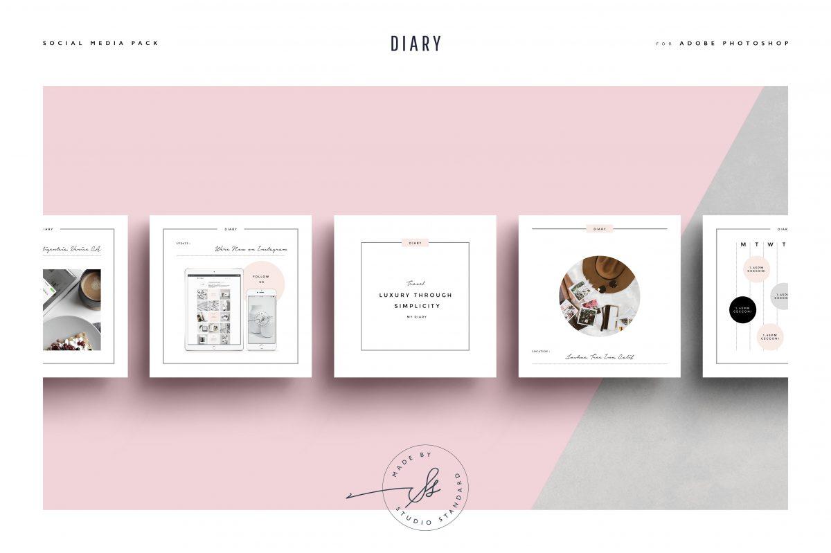 Diary Social Media Pack