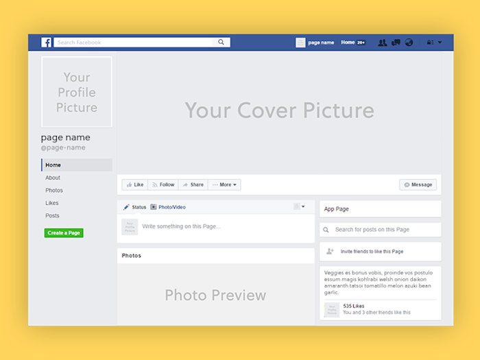 facebook-mockup-template