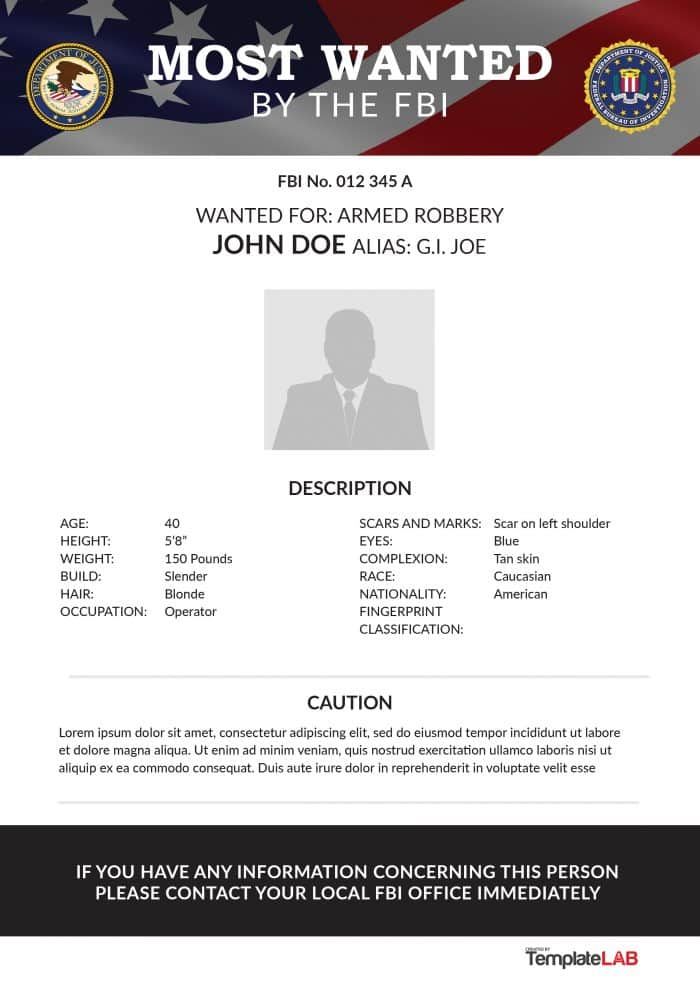 25 free wanted poster templates  photoshop  pdf  google