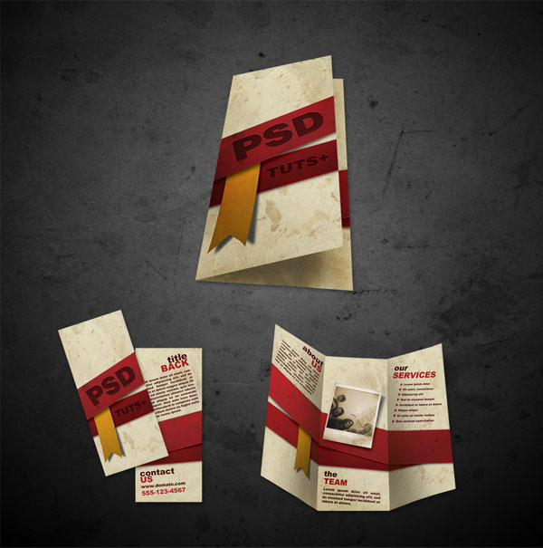 free brochure templates PSD front and back