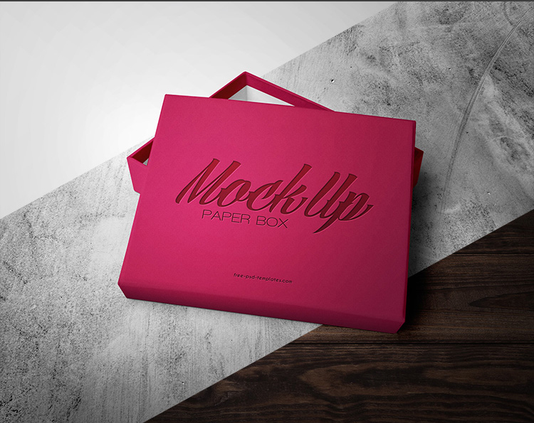 FREE PAPER BOX MOCKUP IN PSD