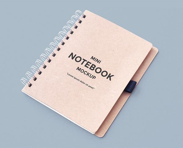 Free PSD Mini Notebook Mockup
