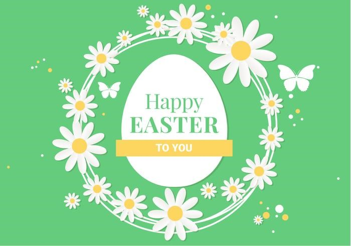 free-spring-happy-easter-vector-illustration