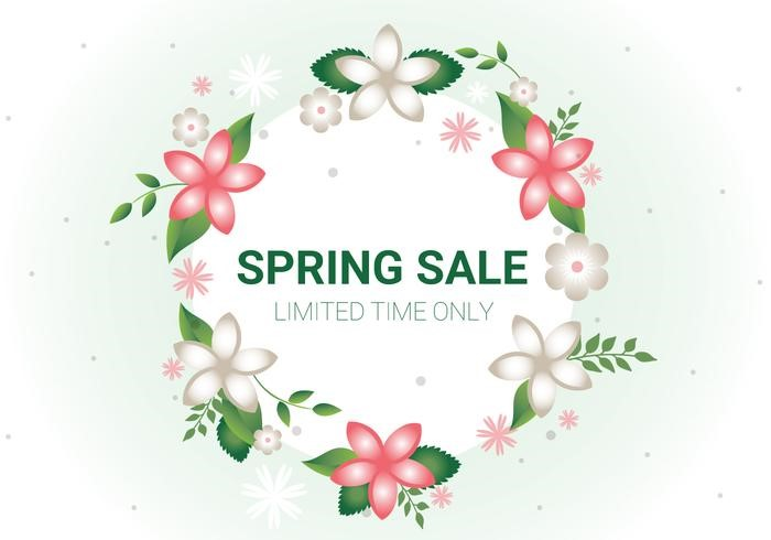free-spring-sale-vector-background