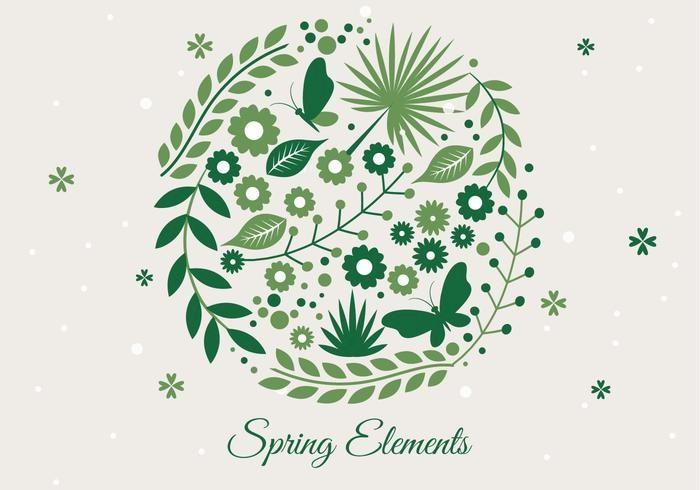 free-spring-season-decoration-vector-background