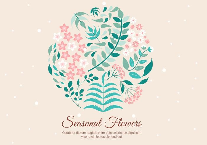 free-spring-vector-background