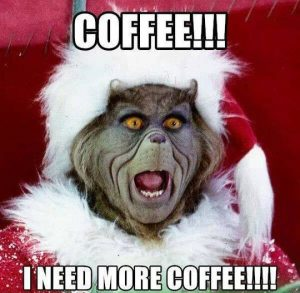 grinch meme coffee