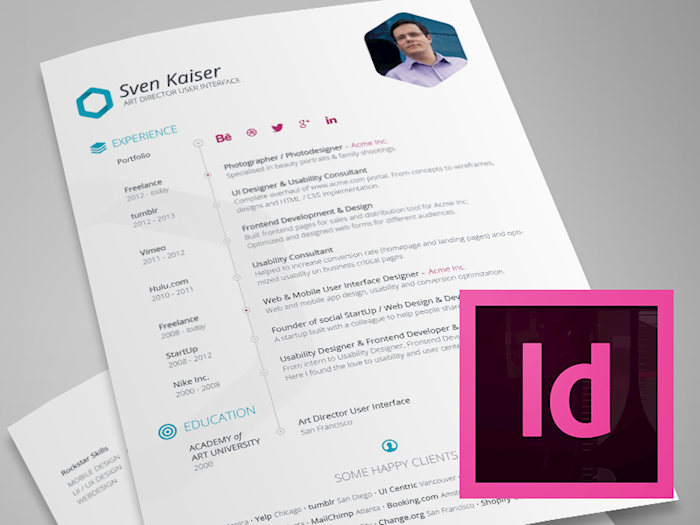 Indesigns Resume  Resume Template Free