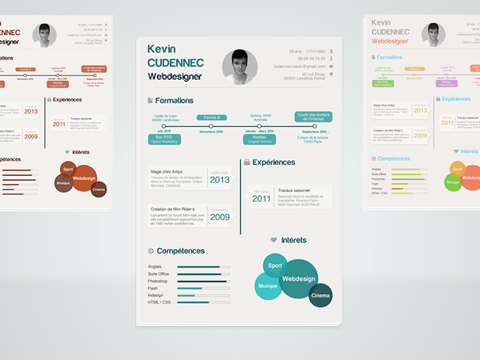 Infographic resume template download