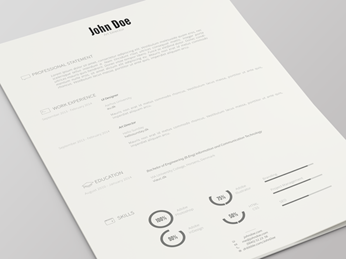 75 best free resume templates for 2018 updated Modern Professional Resume john doe