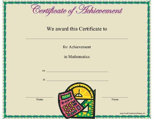 Mathematics Certificate