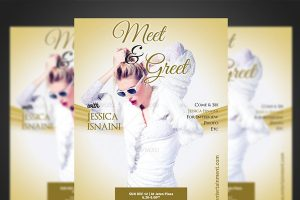 meet and greet flyer templates