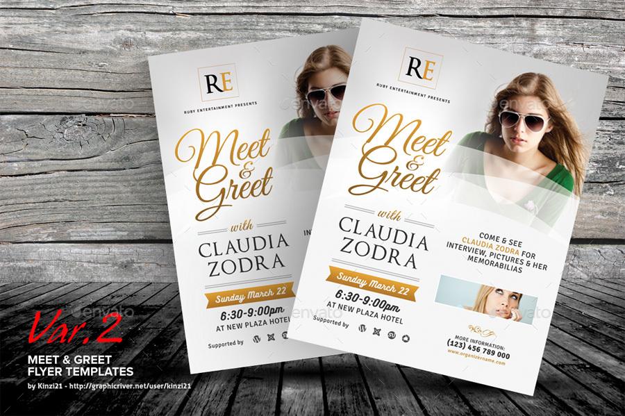 Meet Greet Flyer Template