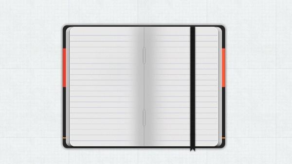 Moleskine Notebook PSD Free psd