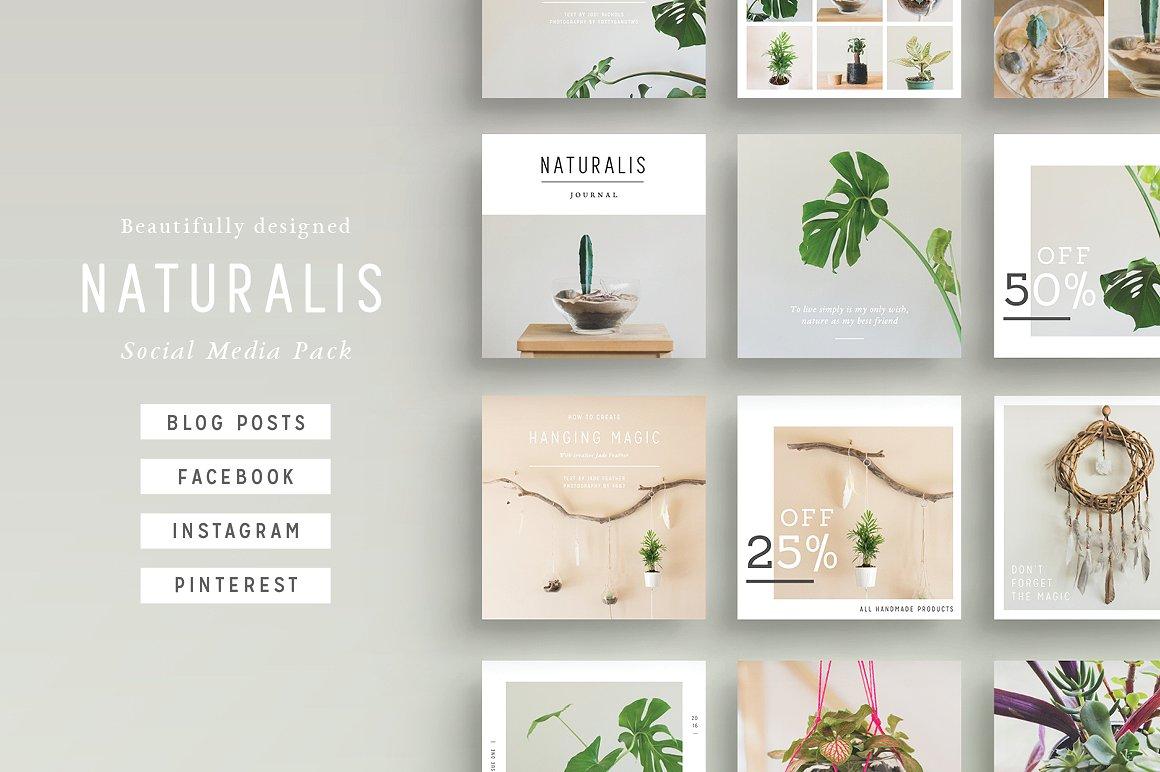 NATURALIS Social Media Pack