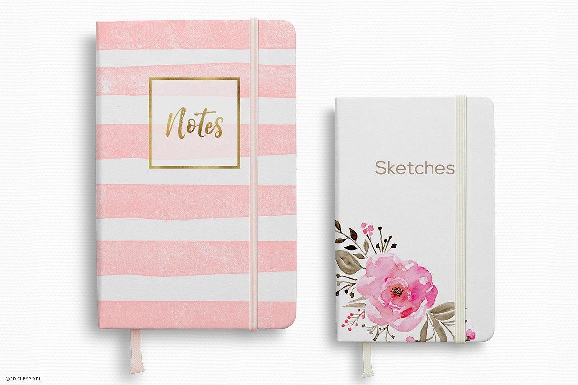 Notebook Mockup 2 Sizes