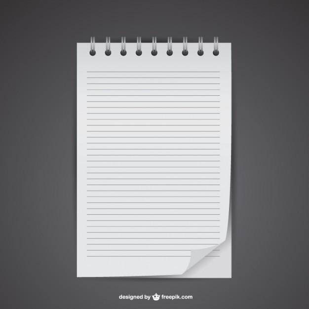 Notebook mockup Free Vector