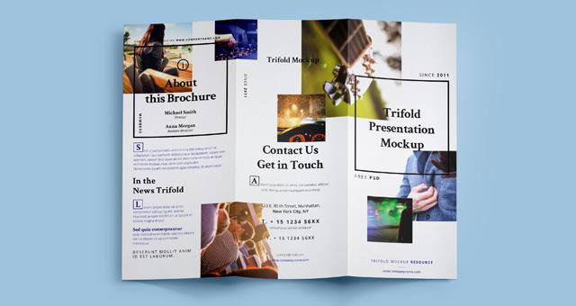 Psd Tri Fold Mockup Template Vol7
