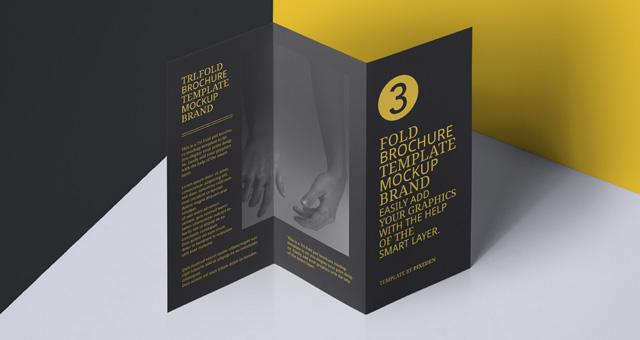 Psd Tri Fold Mockup US A4 Vol6