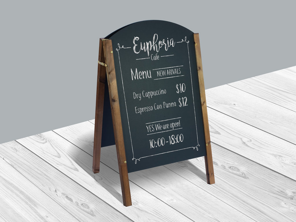 Restaurant Menu Board Mockup