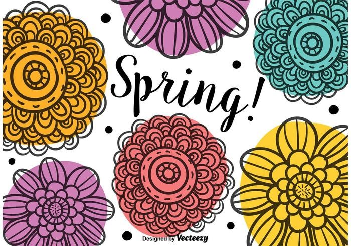 spring-doodle-flowers-vector
