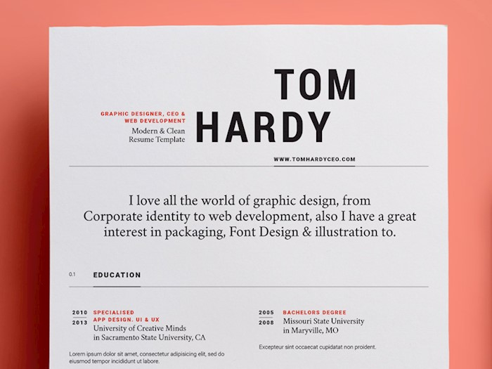 modern design such kind of cv will stand out from the rest because of the boldness used in the template this resume will make you stand out and leave