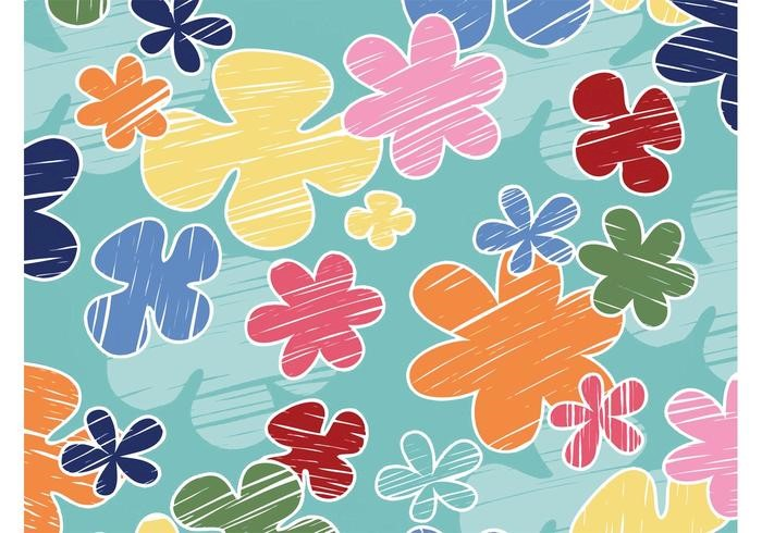 vector-cartoon-flowers-background