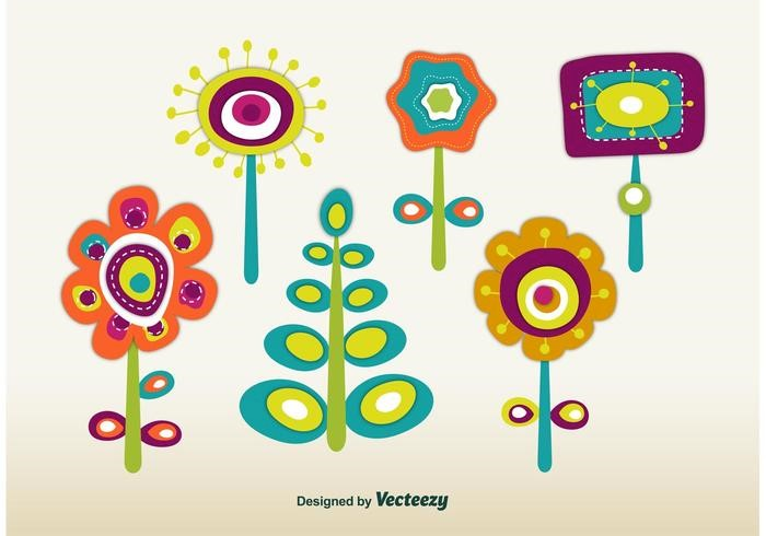 vector-retro-spring-flowers