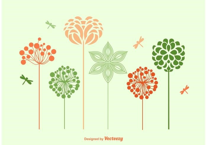 vector-spring-flowers-silhouettes