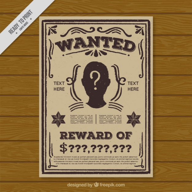 Free Wanted Poster Templates Photoshop Pdf Google Docs Word