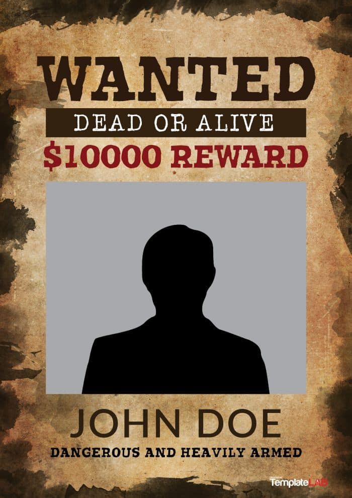 Wanted Poster Rewards  Missing Reward Poster Template