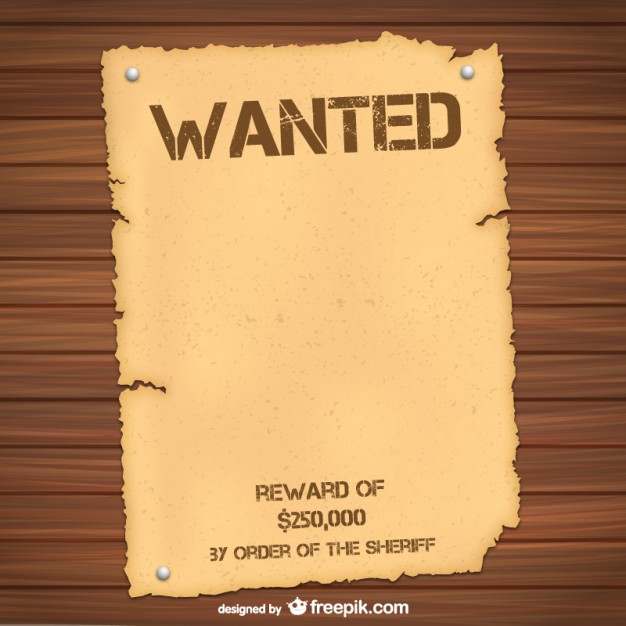 Wanted poster template Free Vector