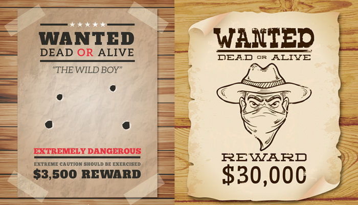 wanted poster templates for photoshop, word, google docs