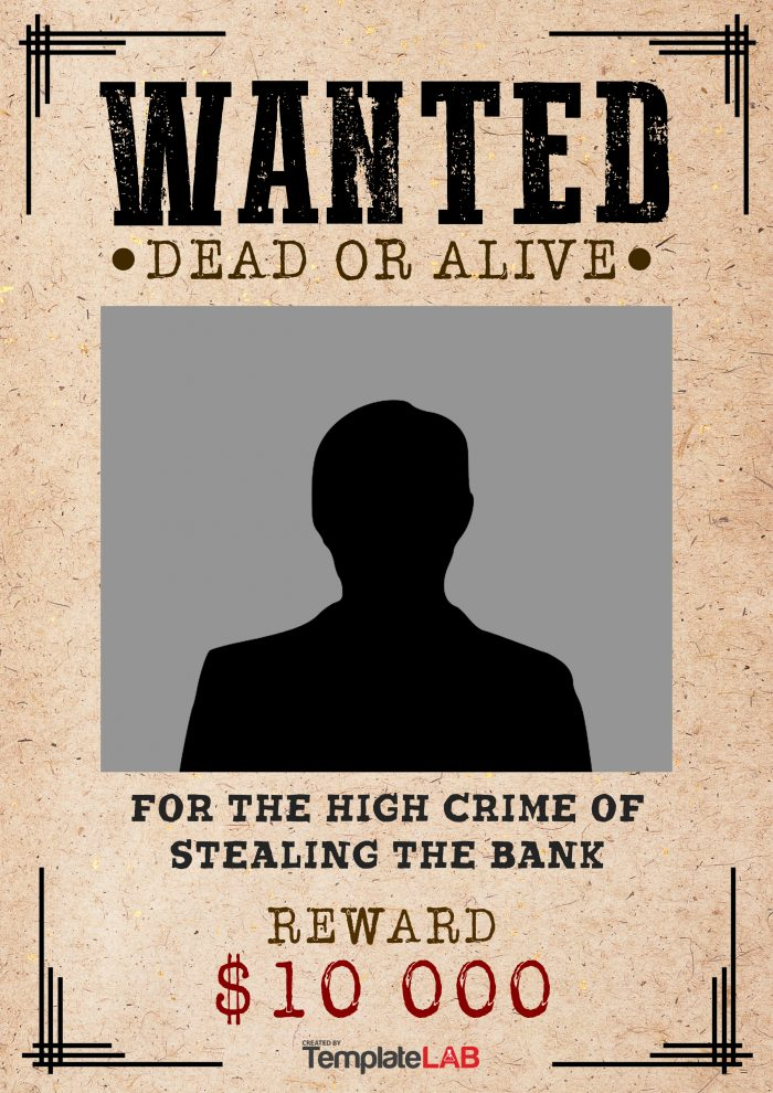 Wanted Poster Templates Free