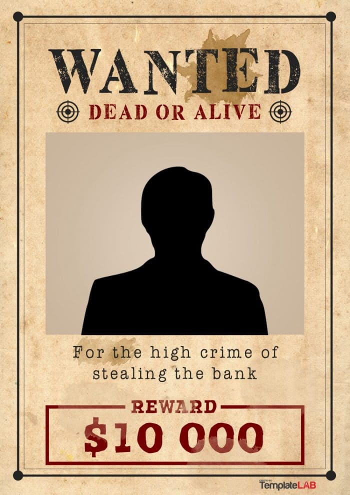 25 free wanted poster templates photoshop pdf google for Wanted dead or alive poster template free