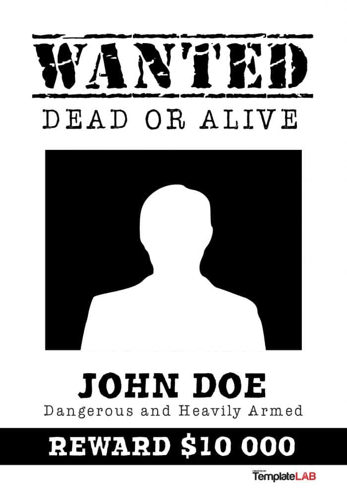 Wanted Poster white and black