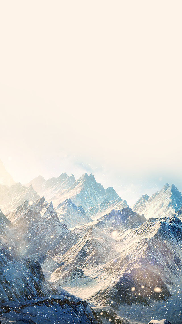 Snow mountains iPhone background