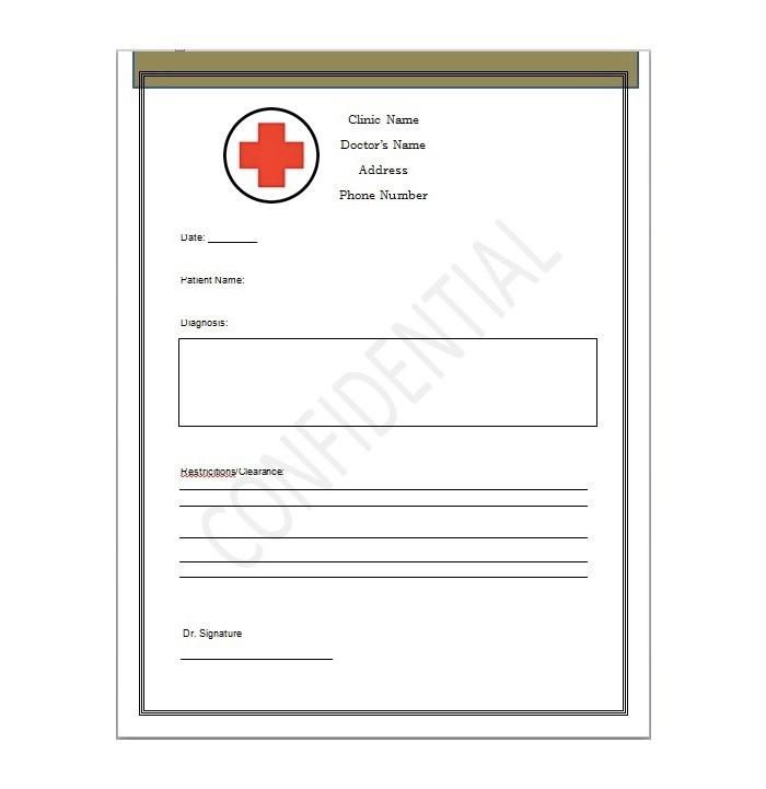 25 Free Printable Doctor Notes Templates for Work (Updated ...
