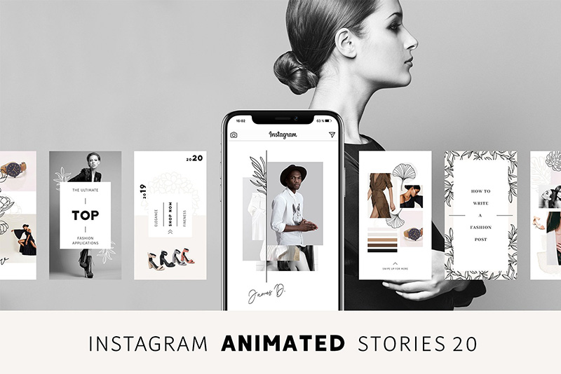 instagram stories psd template 2