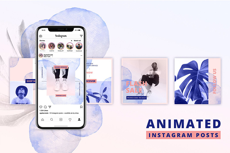 instagram stories psd template
