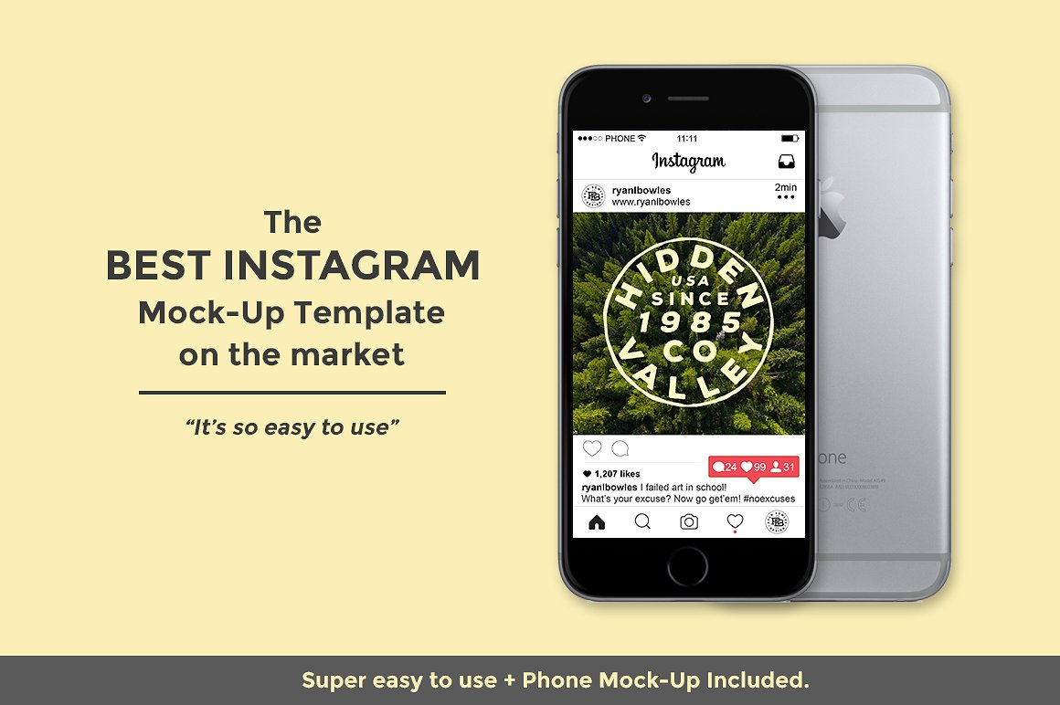 Instagram Editable Mock Up