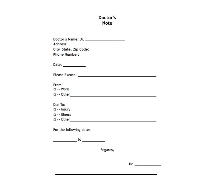 photograph about Printable Doctor Notes for Work named 25 No cost Printable Medical professional Notes Templates for Perform (Up-to-date 2018)