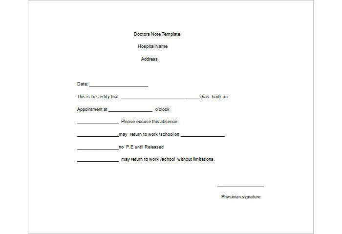 Simple Note Doctor  Note Template