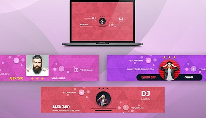 25 Youtube Banner Templates - Youtube Channel Art Designs 2018