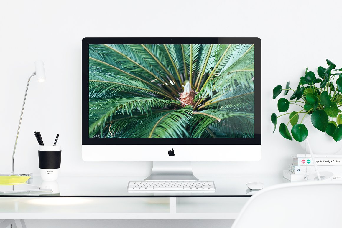 Apple iMac 27 Desktop Mockup Photo