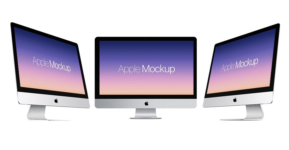 Apple iMac realistic mockup