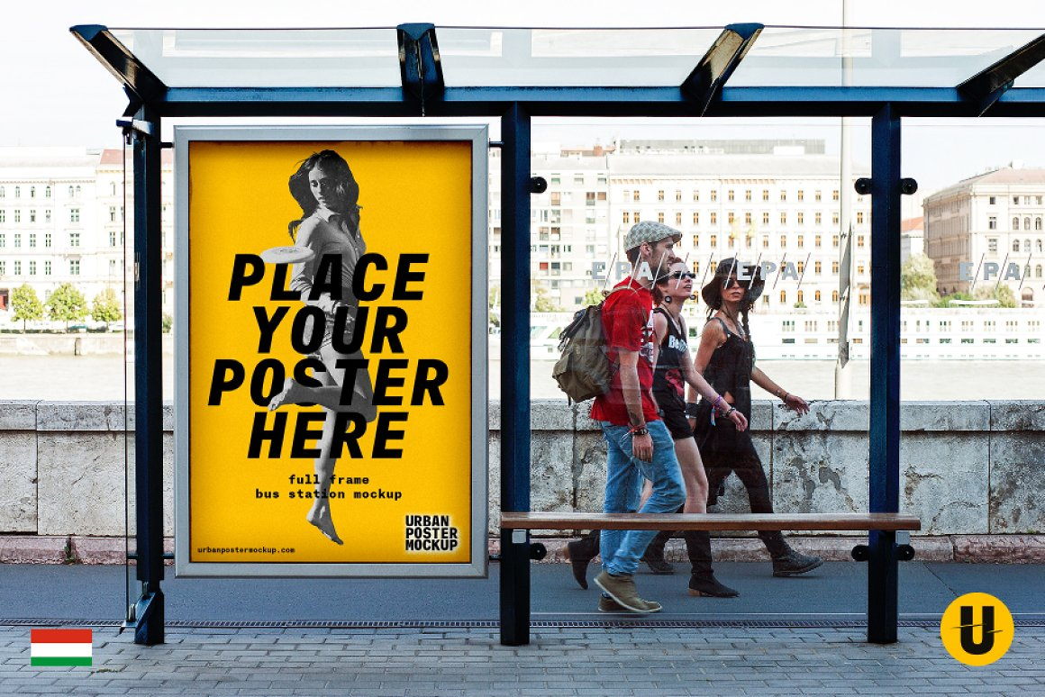 Bus Station Poster Mockup