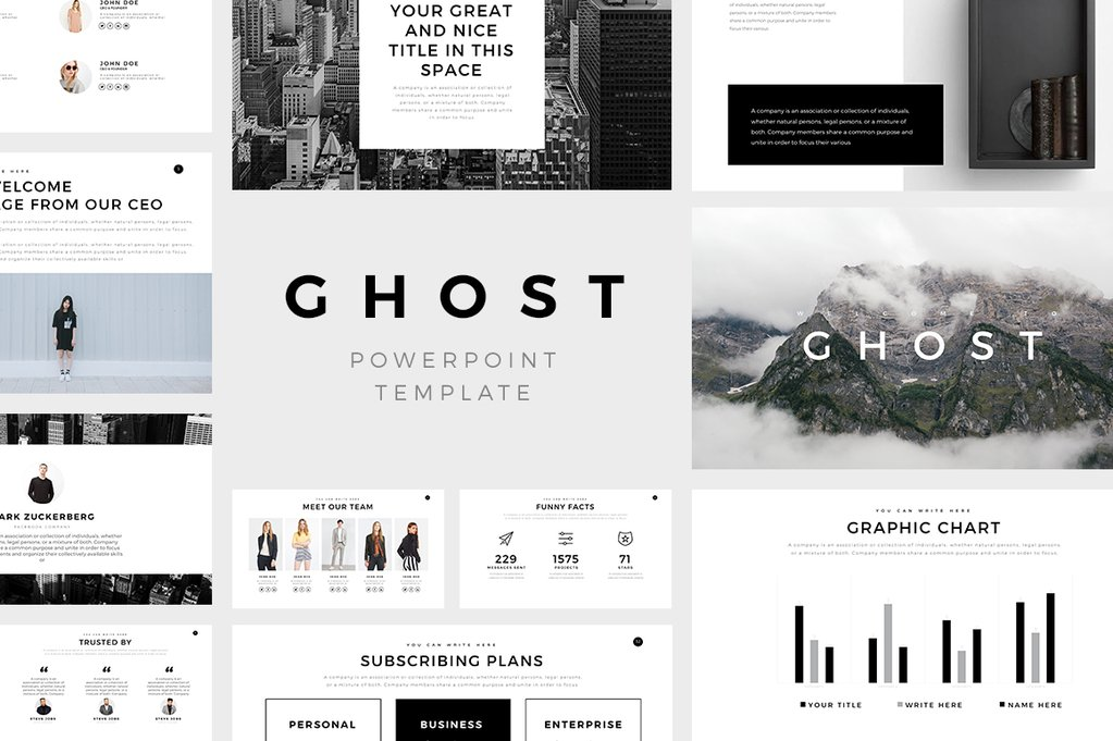 Ghost Minimal PowerPoint Template