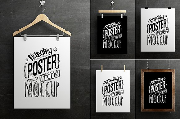 4ea0ac90a7b 50+ Poster Mockups You Can Download Free (Updated 2018)