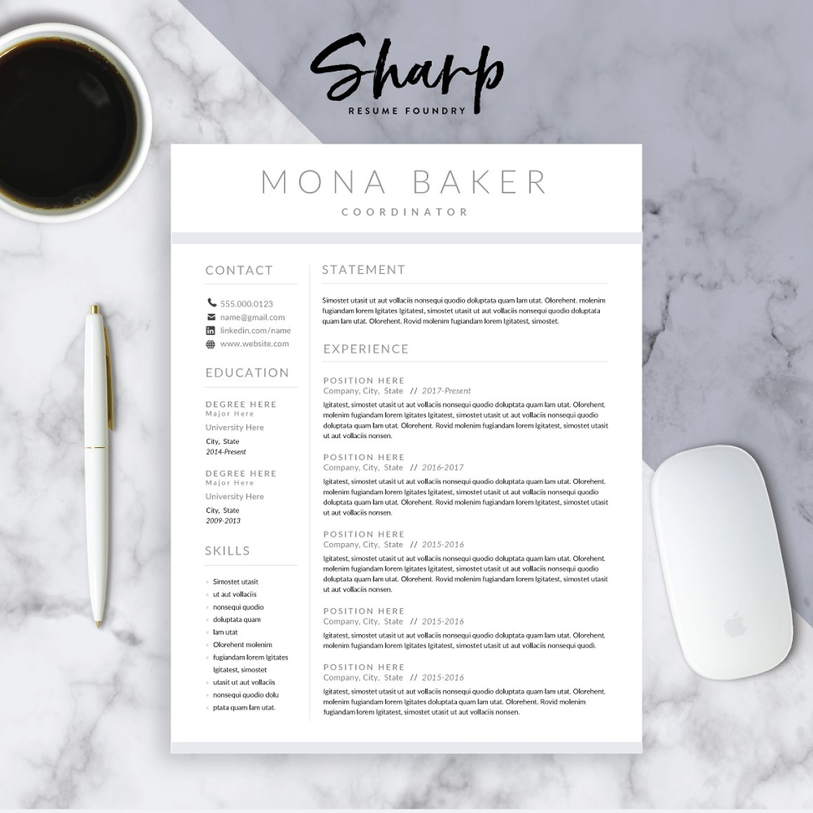 Modern Resume Template for Word